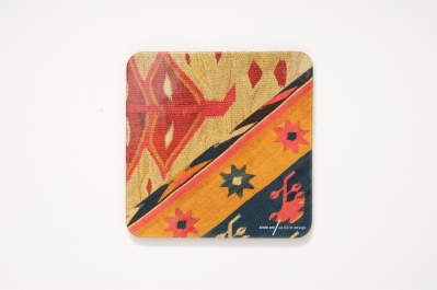 Coaster with Kilim Pattern