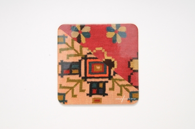 Coaster with Kilim Pattern I